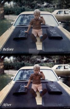 Before and After- Car by LadyLolth