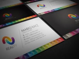 Reality business card by Lemongraphic
