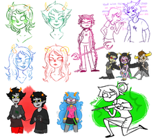 tumblr dump II - HOMESTUCK STRIKES BACK by Miriee