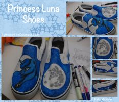 Princess Luna Shoes (commission) by IfreakenLoveDrawing