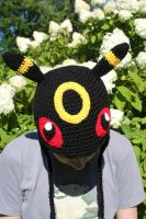 Umbreon inspired hat by Crochetri