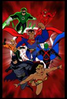 Justice League by The-Art-of-Ravenwolf