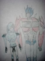 Lisa and Optimus by OptimusPrimeLover98