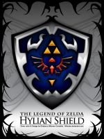 Hyrule Shield, Legend of Zelda by Alforata