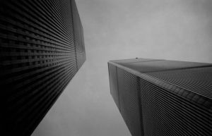 World Trade Center from Below by squarepush
