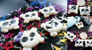 Chibi Skull Charms by Saru-Hime