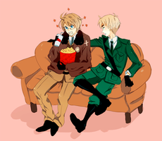 APH : fags on a couch by Kite-Mitiko