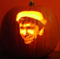 Gilligan Pumpkin - 2005 by CarverOfPumpkins