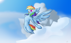 Rainbow Dash by konditorei