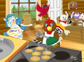 Breakfast at Webkinz Cabin by LMColver