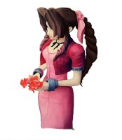 Aerith With Flowers by The-Gotheltic-Rowan