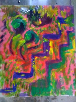abstract in few colors by BoabaBoaba