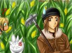 Barts Hugo and Duck Butt XD by suikoden-club