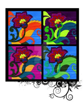 Coloured In Flower Combo by graphicjamdesigns