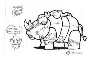 Space Marine Rhino by cabal-art