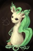 Leafeon Painting by canarycharm