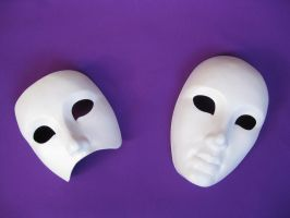 Mask Volto and half mask by Mishutka