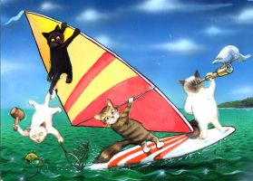Cats Afloat by TheOldGoat1955
