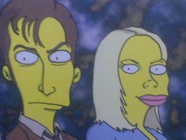 dr who in simpsons form by Wintertrua