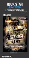 Rock Star PSD Flyer Templates by ImperialFlyers