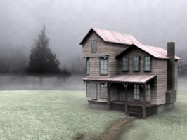 Victorian House in the Myst by suthnmeh