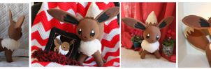 Eevee Plush + Scarf commission by g0ldfishl0ve