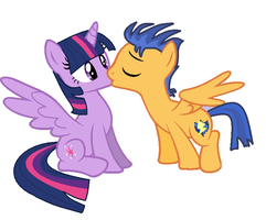 Flash Sentry And Twilight Sparkle Kissing by princessponypaint