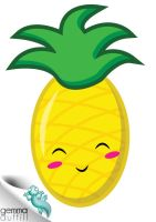 happy pineapple by GemmaDuffill