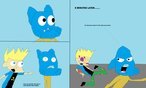 Johnny Test hates Gumball by mippytrippy