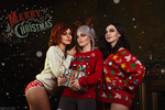 Ciri, Yennefer, Triss - Witcher Christmas by TophWei