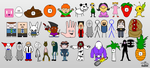 Newgrounds Characters - Final by 53xy83457