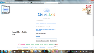 Smart Cleverbot, she should take the trunk by Sweet-Sukari