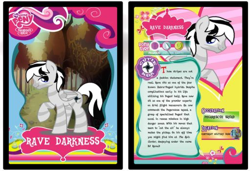 MLPFiM Trading Card Rave by Rave-D