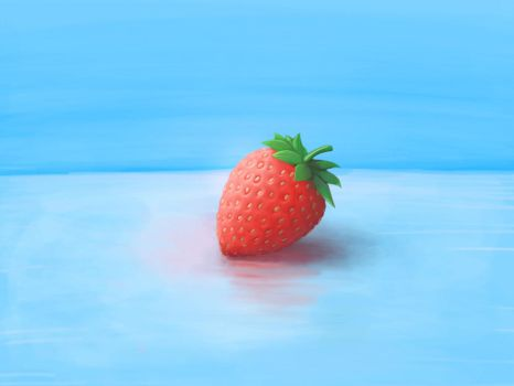 A little strawberry goes a long way.  by spudfx
