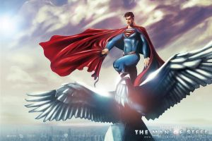 MAN OF STEEL EAGLE Quad by Medusone