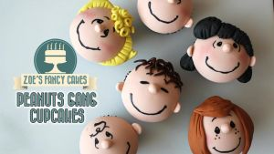 Peanuts Gang Cupcakes Peanuts Movie Tutorial by zoesfancycakes