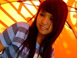 pretty orange umbrella by nesteasotanghon