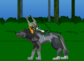 Midna and Wolf Link by spikerman87