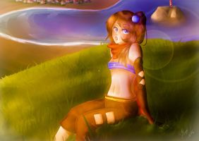 Sunset Hill by Jellymii