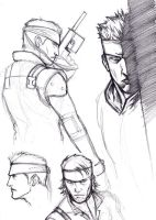 Solid Snake study1 by chosen-1
