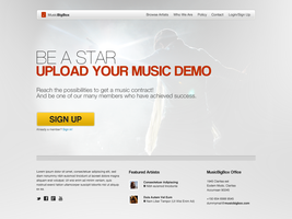 MusicBigBox Web Design Concept by leoaw