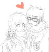 Sotoku and Fluffy WIP by KanjiK