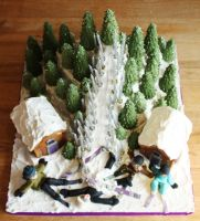 Ski Slope Cake by KatesKakes