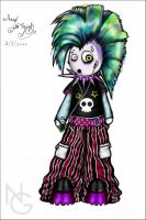 PuNKyCybY BOY colored by NURIEL-ART