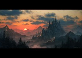 Dragon Spine Mountain by draken4o