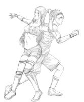 basketball - volleyball2 by russ-artiste