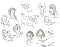 The Hunger Games Sketch Dump by iheartart121