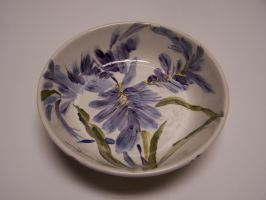 Bearded Iris Bowl by liralenli
