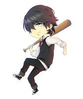 chibi nate coloured by NIkly