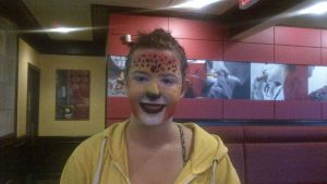Cheetah face paint by ColorfulCandie